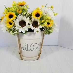 Rae Dunn ~ WELCOME ~ Planter ~ Flower ~ Pot ~ NEW